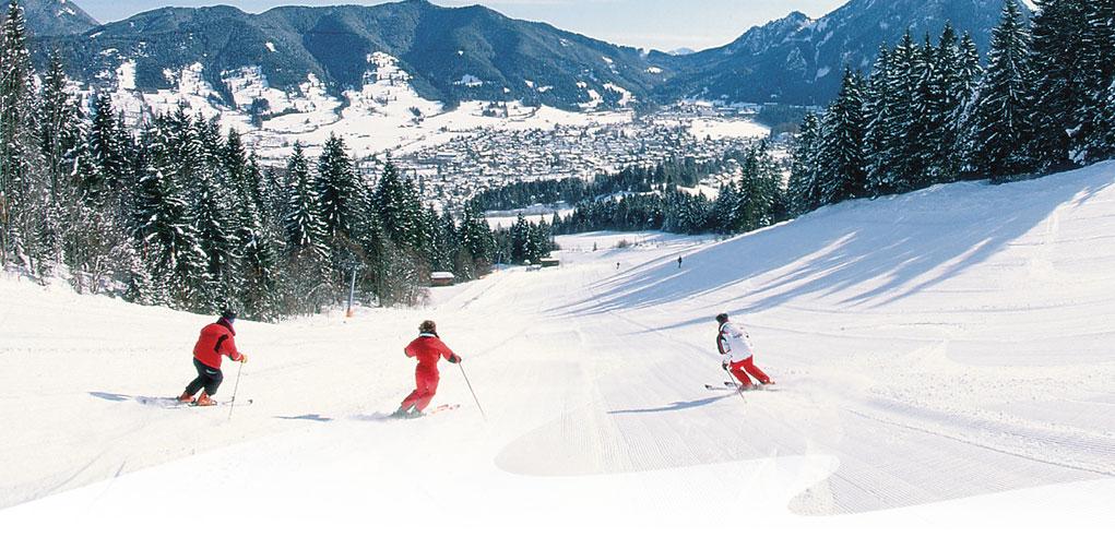 Skifahren-Familienskigebiet